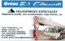 GRUAS EL ALICANTÍ, GRUAS CONSTRUCCION / INDUSTRIA en EL ALTET - ALICANTE