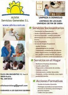 ALIVIA - ASISTENCIA A DOMICILIO / SERVICIOS SOCIALES
