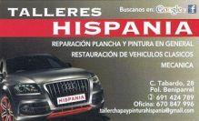 HISPANIA, TALLERES MECANICA / PINTURA / GRUAS en BENIPARRELL - VALENCIA